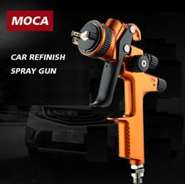 Pistolas de pintura lvlp online-herramienta MOCA505 HVLP Pistola de pulverización de pintura LVMP 1,3 mm pistola de alimentación por gravedad para retoques de automóviles pistola de aire de alto rendimiento de aire