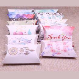 Kartons für süßigkeiten online-Neue diy pralinenschachtel geschenk fangen traum design geburtstag papier box kissen produkte karton schmuck verpackung hand machen