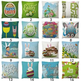 Almohadas conejo conejo online-Funda de almohada de Pascua Sofá Funda de almohada Funda de almohada Bunny Rabbit Design Funda de cojín para sofá de coche