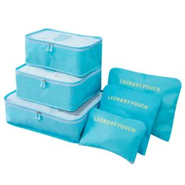 Nylon 6pcs Sac de Voyage Étanche Grande Capacité Accessoires de Voyage Fonctionnels Organisateur de Bagages Haute Capacité Maille Emballage Cubes ? partir de fabricateur
