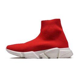 черные кроссовки белые кроссовки Скидка BL Носок обувь Speed Trainer Chaussures Fashion Luxury Дизайнер Red Bottoms обуви белый черное платье De Luxe кроссовки мужские Женщины t03