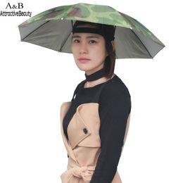 Шляпы 65см онлайн-Зонт-шапка для взрослых Зонт с резинкой 130G Wear 65cm Головной убор на голове 40cm
