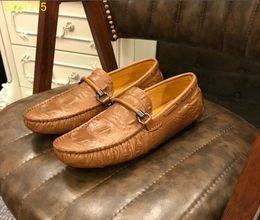 Los más vendidos para hombre de ocio de cuero zapato flattie piel de cocodrilo italiano caminar zapatos mocasines mocasín 38-44 desde fabricantes