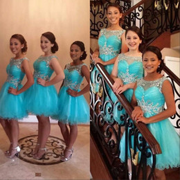 644218cbf navy junior bridesmaid dress knee length Promo Codes - 2019 Crystal Country  Boho Beach Bridesmaid Dresses