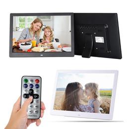 13 Polegada Digital Photo Frame HD 1280X800 Display LED Reprodução Álbum Eletrônico Imagem Movie Player Relógio Despertador de
