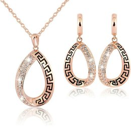 Oro indio 18k online-Joyería Conjunto de joyas de dama de honor Aretes Collar de oro indio indio africano mujeres hombres Dubai 18 k Joyas de oro Joyería del partido