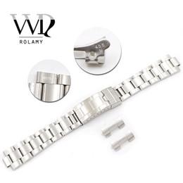 2019 dw assistir faixas Rolamy 20mm Aço Inoxidável Links Oco Curvo Desdobramento De Implantação Glide Fecho Fecho Brushed Bracelet para VINTAGE Oyster 70216 455B