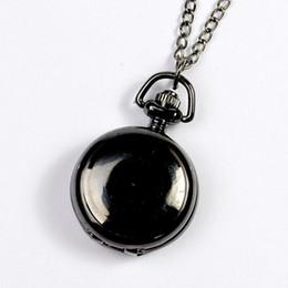 серебряные часы Скидка Smooth and bright fashion retro double-sided pocket watch with silver pocket watch necklace star black