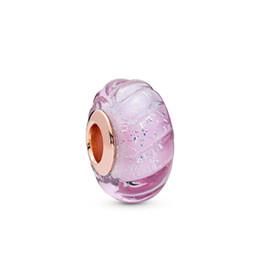 Kristie 100% 925 Sterling Silver New 2019 Spring 788107 Brillante rosa Ranhures Muran Tape Braccialetti con ciondoli Fai da te Original Jewels da mini figurine animali fornitori