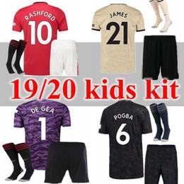 2019 camisas de futebol verde em branco novo 19 20 Manchester futebol Jersey crianças kit Estados Pogba JAMES MATA Lukaku FRED Rashford Matic camisa dos miúdos kit 2019 camisa 2020