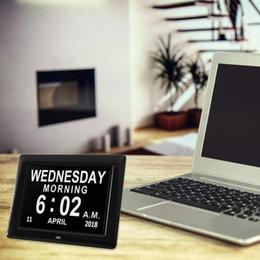 Molduras Digitais EU plug 8 Inch TFT LCD Photo Frame Digital Photo Calendar Calendar Clock Display Multilanguages Hot Sale de Fornecedores de tela branca do quadro de foto