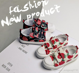 Wholesale Zapatos para niños Candy Palette Shoes Diseñador de la marca Strawberry White Low Up Classic
