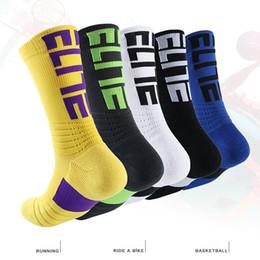 Rodilla de tenis online-EN Stock EU EE. UU. Élite Profesional Calcetines de Baloncesto Calcetines Largos Rodilleras Calzado Deportivo Hombres Moda Bicicleta Correr Tenis Deportes Calcetín