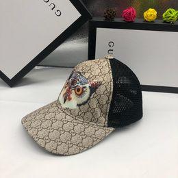 Verão da coruja bone on-line-Chapéu do desenhador, masculino e feminino, chapéu de motorista de caminhão no verão, design de coruja, adequado para adultos / arco ajustável Boné de beisebol / sh do designer