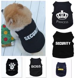 Hund sommer overalls online-5 Styles Sommer-Hundekleidung-Kleid Cat Weste New Small Pullover Pet Versorgung Karikatur-Kleidung T-Shirt für Welpen Günstige Overall Outfit HH9-2520