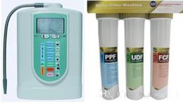 membranas de filtro Desconto Ionizador De Água Alcalina Máquina Ionizador de Água + 3 Filtros de Água Sistema de Máquina (1PPF + 2UDF + 3FCF) 110-220 V EHM-719 navio livre por DHL