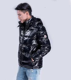 jaqueta zip completo Desconto 2019 novos homens de moda de pato para baixo casaco de inverno para baixo espessura pequena seção do revestimento dos homens quentes dos homens jaqueta tamanho casaco preto mais 3XL SH190929