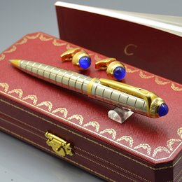 pacchetto dei gemelli Sconti Top Luxury Birthday Gift - Carties Branding Writing Penna a sfera + French Man Gemelli per gioielli Gemelli con confezione originale