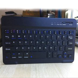 беспроводная клавиатура мобильного телефона Скидка 1 шт. тонкий мини-клавиатура Bluetooth Беспроводной 7 8 дюймов для мобильных телефонов таблетки IOS Android IJS998