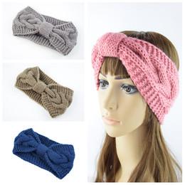 Damen Mode Stirnband Haarband Wrap gestrickte Kopfverpackung Winter Haarband