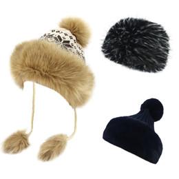 b1ba2ea6c5226 bobble hats men Promo Codes - Lady Luxury Winter Fleece Lined Bobble Beanie  Hat With Faux