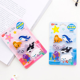 stationery rubber set Coupons - Marine Animal Eraser Set Rubber Eraser Primary Student Prizes Promotional Gift Stationery