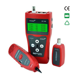 Canada Testeur de câble de surveillance réseau unique LCD NF-308 Localisateur de défauts de fils Réseau LAN BNC coacial USB RJ45 RJ11 couleur rouge Offre