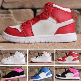 sale retailer 5c6ae 7b663 Nike air jordan 1 retro Arrivo Off OG Jam Kids Black 1s Sneakers Alta  qualità NUC Outdoor Trainers Ragazzo e ragazze bianche scarpe da corsa  Scarpe da ...