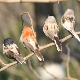 Adornos de espuma online-12 unids Decoración del Árbol de Navidad Plumas Gorrión Artificial Con Clips Craft Foam Birds Home Garden Party Decor Ornamento C19041501