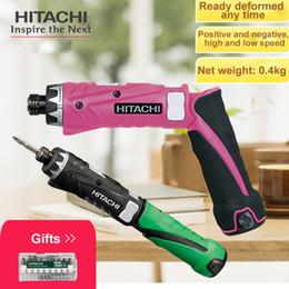 batería hitachi Rebajas Japón HITACHI DB3DL2 Destornillador de carga Destornillador eléctrico Plegable 3.6V Batería de litio doble 0.3 ~ 2.9N.m