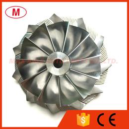 Rueda del compresor del turbocompresor online-GT3582 451644-0005 61.33 / 82.00mm 11 + 0 cuchillas Racing Turbocompresor Aluminio 2618 / Rueda de fresado / Turbo Billet Rueda del compresor Turbo CHRA / Núcleo