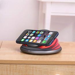 farbwechselladegeräte Rabatt Kabelloses Ladegerät, Qi-zertifiziert Faltbare, komprimierte Farbwechsellampe Schlaffreundliches LED-Licht Kompatibel mit iPhone und Samsung-Serie