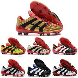 Zapatillas de fútbol originales de alta calidad para hombre Zapatillas de deporte Botas de fútbol Dream Back 98 Predator Accelerator Champagne FG / IC Zapatos de fútbol 39-45 desde fabricantes