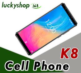 2019 полноразмерные мобильные телефоны OUKITEL K8 18: 9 Full Display 6.0''FHD Мобильный телефон Android 8.0 MT6750T Octa Core 4 ГБ + 64 ГБ 5000 мАч Отпечаток пальца ID лица смартфон 5шт DHL