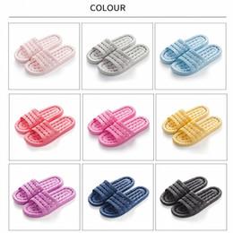 Massaggiare le scarpe delle donne online-Sandali casuali per l'estate Appartamenti per interni Pantofole per massaggi antiscivolo per uomo e donna Pantofole per casa per adulti