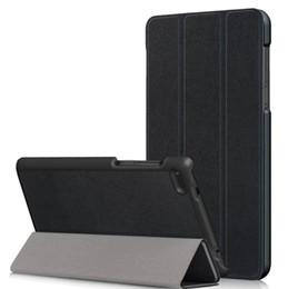 Rosa lenovo tablet fall online-10pcs / lot geben Verschiffen intelligenten Custer ledernen Luxuxfall für Tablette PC des Lenovo Vorsprungs 7 wesentlicher 7304F TAB E7 TB-7104F TB-7504F frei