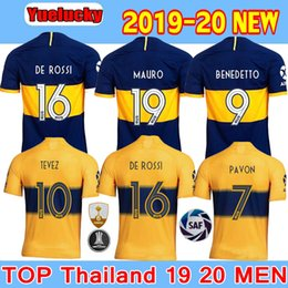 boca juniors jersey thai Promo Codes - Thai quality 2019 2020 Boca Juniors Soccer Jersey Home Away 3RD 19 20 Boca Juniors GAGO OSVALDO CARLITOS TEVEZ PEREZ P Football shirts