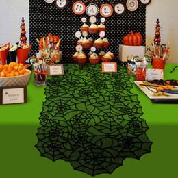 Таблица привилегий онлайн-Halloween Party Black Lace Паутина Камин Мантия шарф Скатерть Horror Реквизит Halloween Party Favor украшения