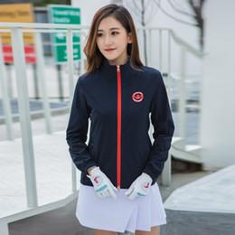 Гольф женская куртка легкая ветровка куртка нейлон дамы спорт гольф одежда с длинным рукавом рубашка ветрозащитный от Поставщики оптовый торговец теплой курткой