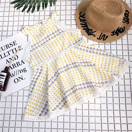 2019 New Summer Item Girl Fashon Dot Design tutu lace Dress niños vestidos de novia bebé mameluco terciopelo acción de gracias navidad congelado desde fabricantes