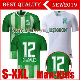 nacional jersey Promo Codes - 19 20 Atletico Nacional Medellin H.BARCOS Soccer Jersey Colombia Club Medellin 2019 Home Football Man kids Sports Uniform Football Shirt