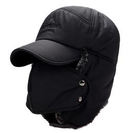 ohr wärmer gesichtsmaske Rabatt Winter Qualität Hüte Winddicht Dicke Warme Lei Feng Caps Gesichtsmaske männer Outdoor Abnehmbare Maske Fahrrad Gehörschutz Hüte