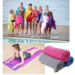 Tapetes de praia ao ar livre on-line-Esportes ao ar livre de secagem rápida Bath Set microfibra Toalha antiderrapantes para o banho Ginásio Camping Yoga Mat Beach Blanket MMA1830-1