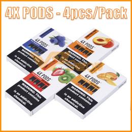 gros paquets Promotion 4X Pods 1.0ml Grande capacité sans fuite 4 gobelets par cartouche de vape avec capsules compatibles Huile VS MR FOG VGOD Stig