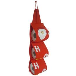 Argentina Rojo Navidad Papá Noel Rollo de papel higiénico Soporte de papel Percha Caja de pañuelos Cubierta Accesorios de baño Suministro