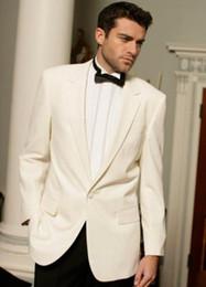 vestidos de moda marfil Rebajas Traje de moda para hombre de Mashup Boda para hombre Vestido largo de Lang Vestido informal de moda Chaqueta blanca marfil con pantalón negro Conjunto de dos piezas
