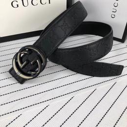 vente en gros de ceinture en or Promotion Ceinture de marque de mode lettre ceinture lisse boucle ceintures de conception pour hommes et femmes ceinture en cuir couleur noire sans taille de boîte
