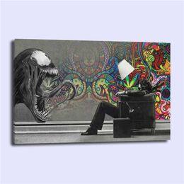 pinturas de delfines Rebajas ABSTRACT MARVEL VENOM, HD Impresión de lienzos Nueva decoración del hogar Arte Pintura / (Sin marco / Enmarcado)