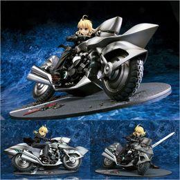 Números ação zero on-line-Anime Fate Zero Saber Saber Motored 1/8 Escala PVC Action Figure Collectible Toy Modelo