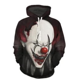 0b6edb949d3a2 Joker Mens Clown Imprimé Designer 3D Hoodies À Capuche Sweat-Shirts  Adolescents